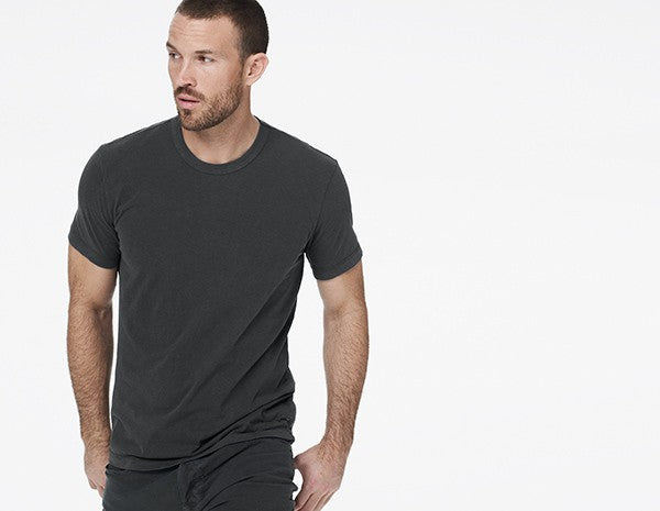 James Perse Crew Neck Tee Charcoal