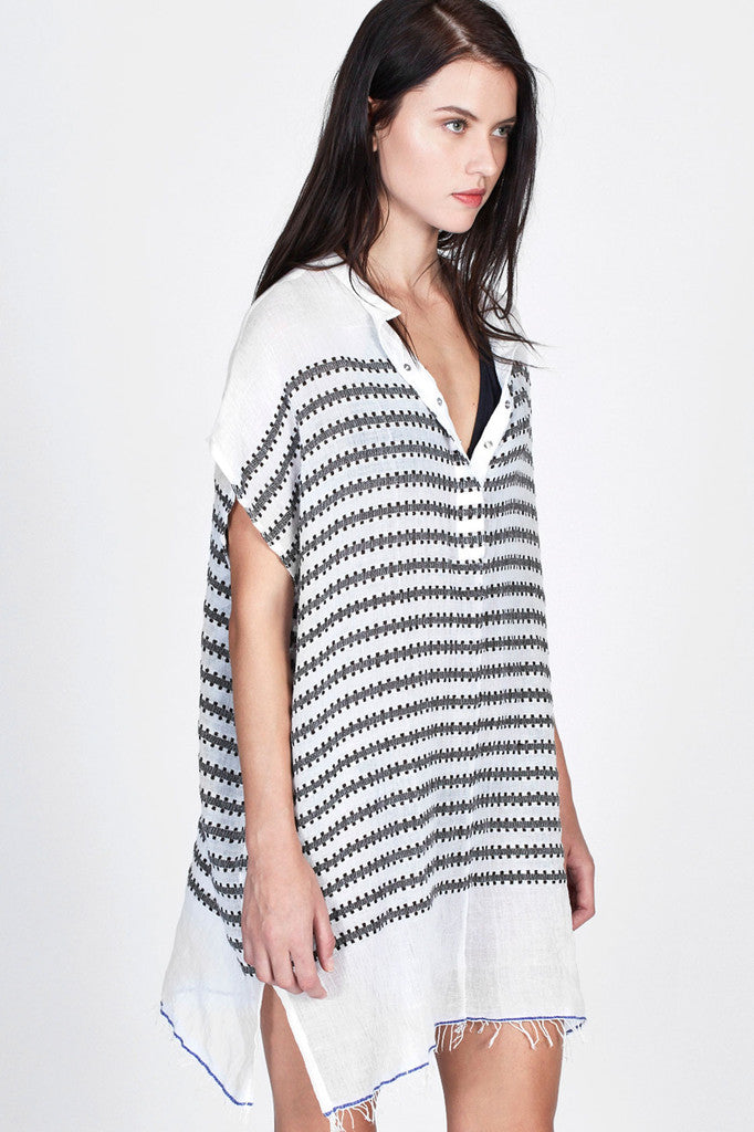 Lemlem Elsabet Henley Cover Up