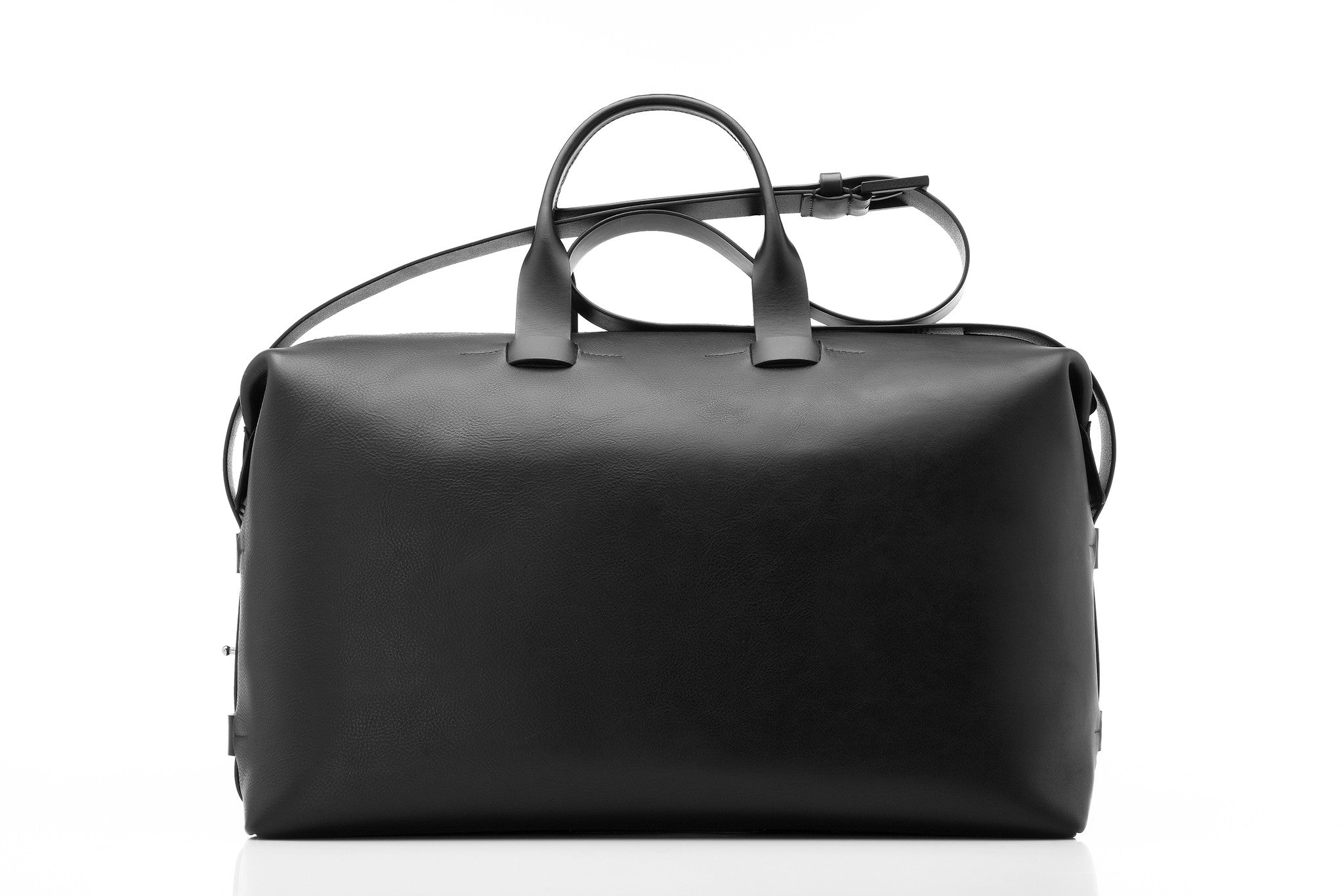 Troubadour Weekender Black Leather