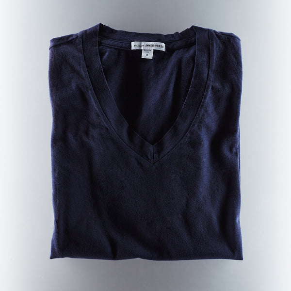 James Perse Mens V Neck Tee - Navy