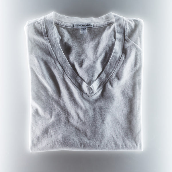 James Perse Mens V Neck Tee - White