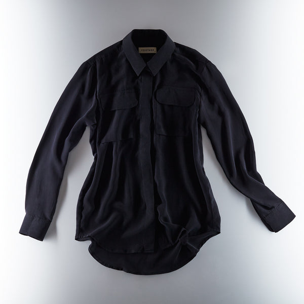 Footage Silk Shirt - Black