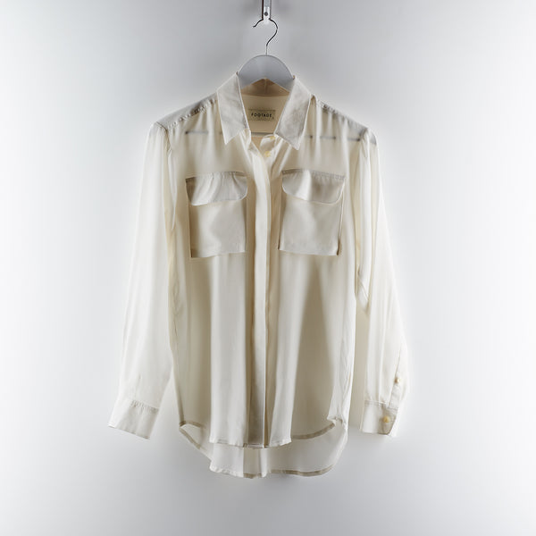 Footage Silk Shirt - White