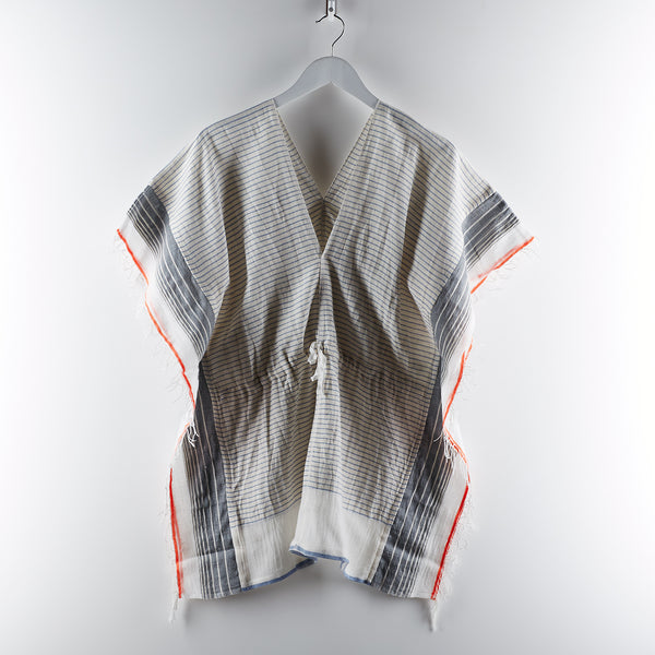Lemlem Biftu Cover Up - Grey/Orange