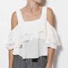 Apiece Apart - Viga Cold-Shoulder Top - Cream