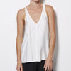James Perse - Sanded Satin V Neck Tank - White