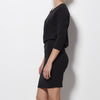 James Perse - Dolman Blouson Back Draped Dress - Washed Black