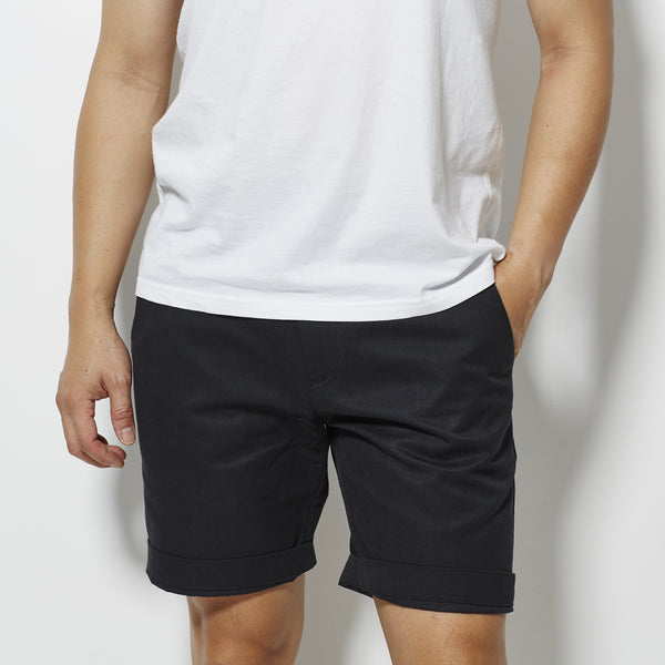 Footage Newport Slim Shorts - Black