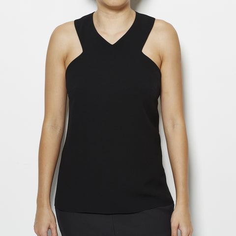Tibi Bibelot Crepe V Neck Top