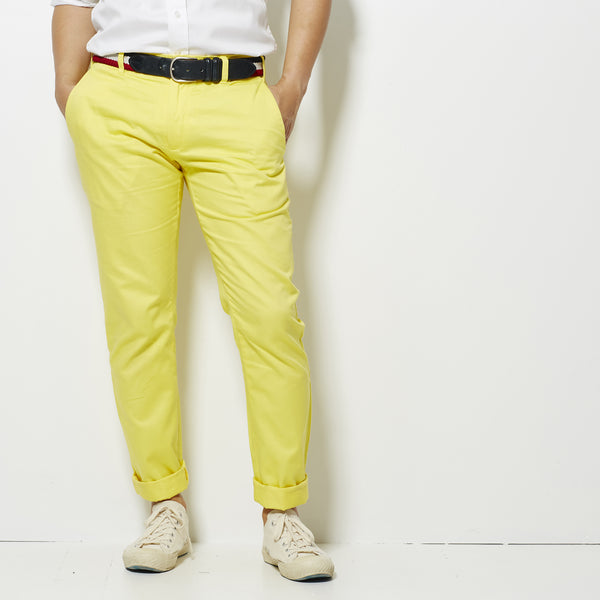 Footage Slim Chino Pants - Yellow