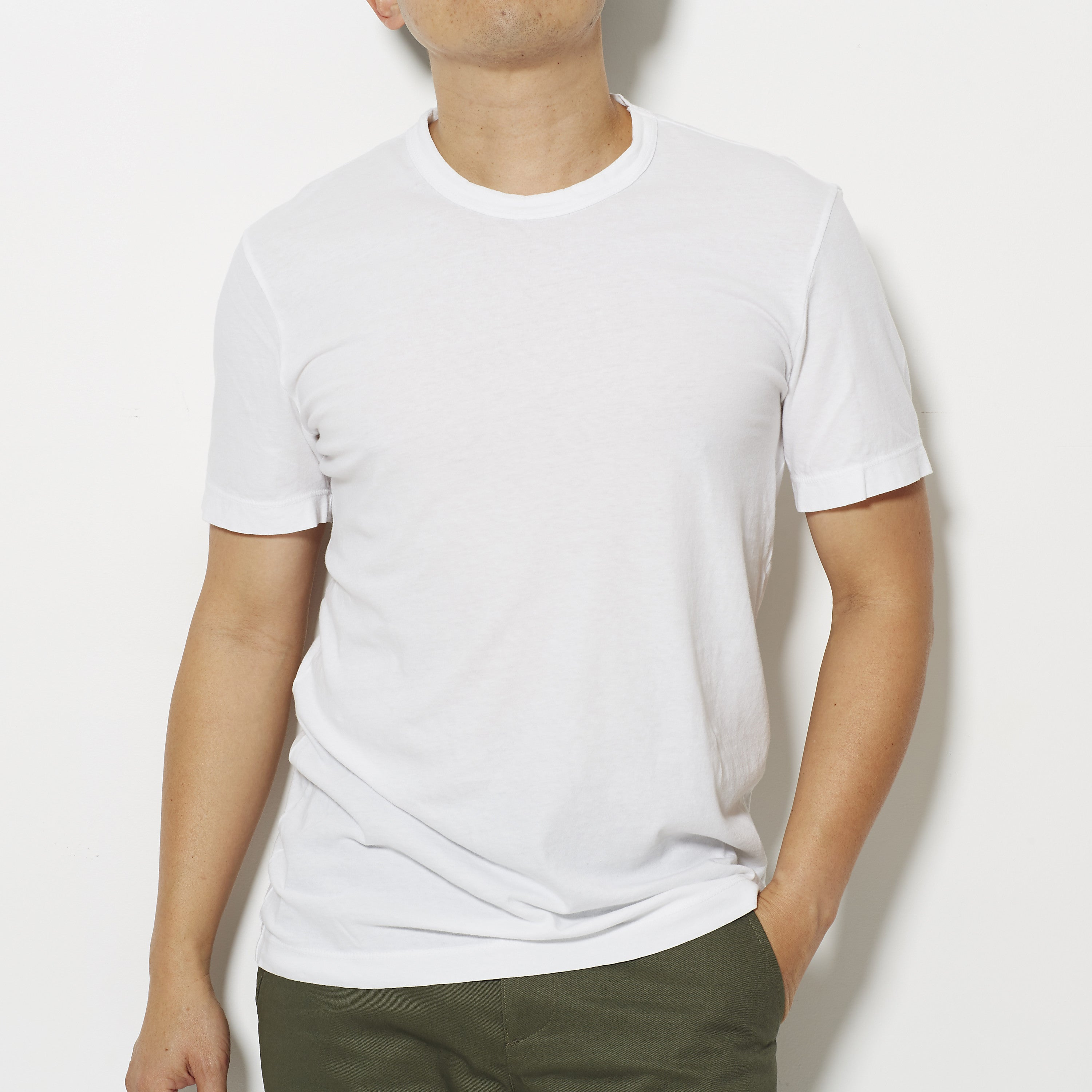 101aacf3bc0 James Perse Men's Short Sleeve Crew Neck T-Shirt - White – Footage