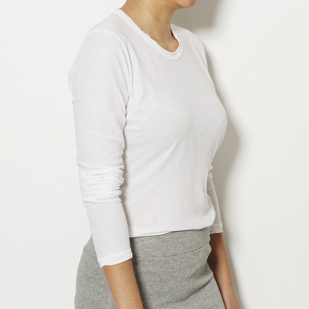 James Perse Women's Long Sleeve Tee - White