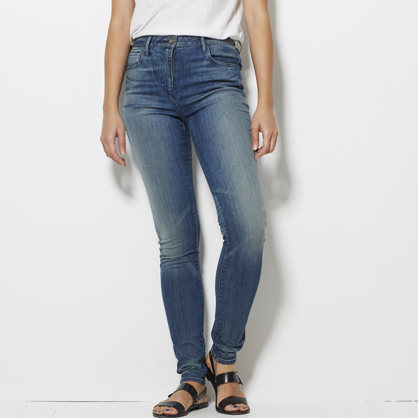 3x1 W3 High Rise Skinny Jeans - Sea