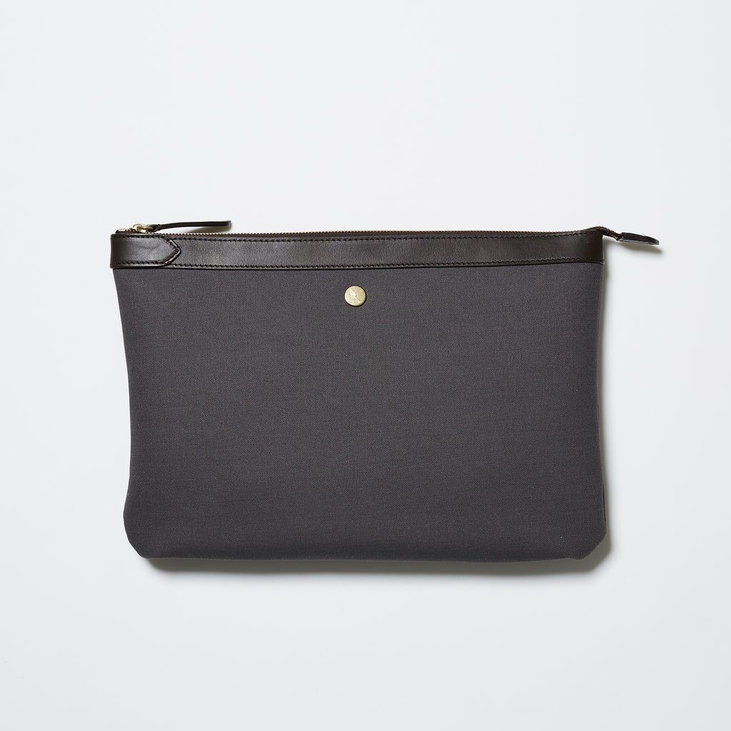 Mismo M/S Pouch Large - Great Grey/Dark Brown