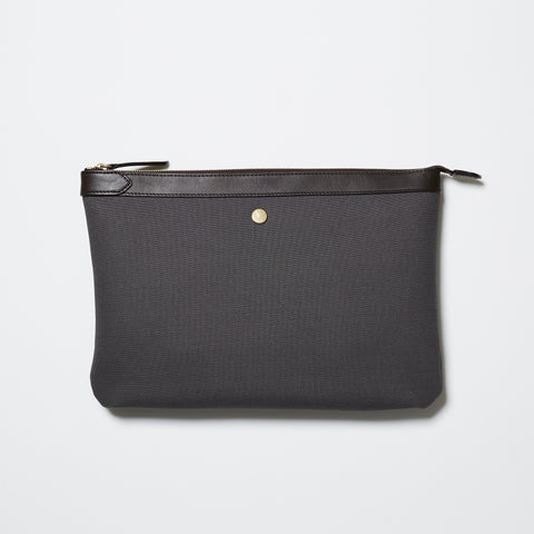 M/S Pouch Large - Grey/Dark Brown