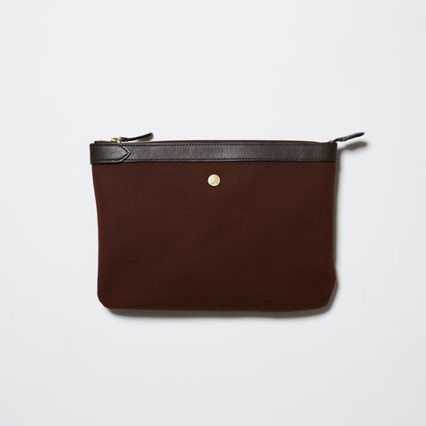 Mismo M/S Pouch - Rust/Dark Brown