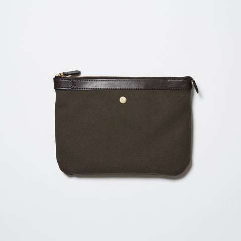 M/S Pouch - Army/Dark Brown