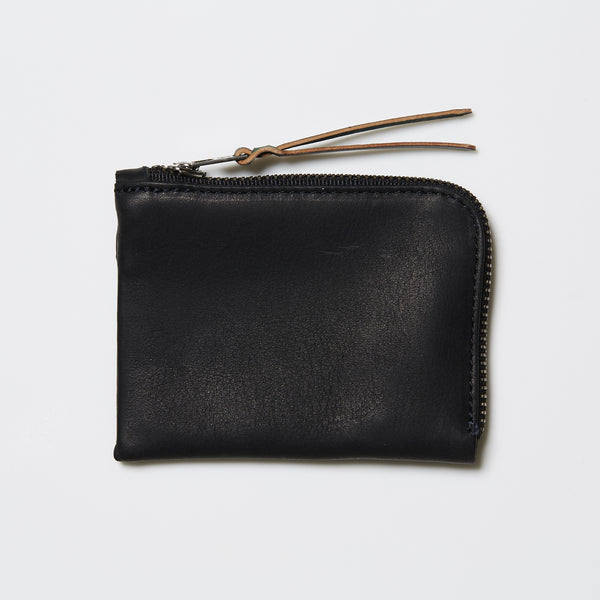Makr Slim Zip Wallet - Black Horween® Utica Leather