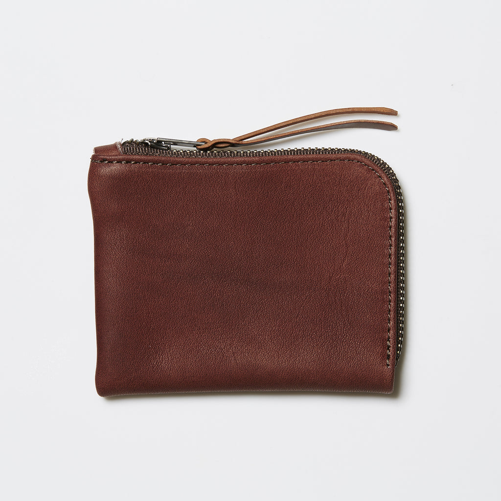Makr Slim Zip Wallet - Walnut Horween® Utica Leather