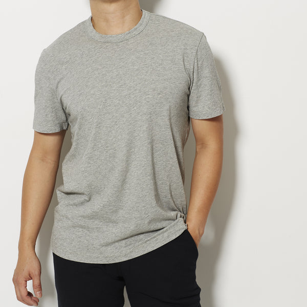 James Perse Men's Short Sleeve Crew Neck T Shirt - Grey