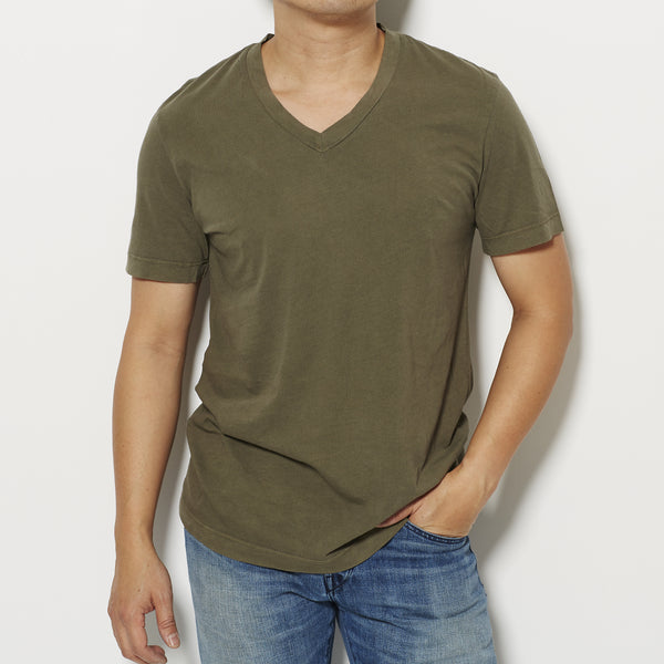 James Perse Men's Short Sleeve V Neck T-Shirt -  Olive