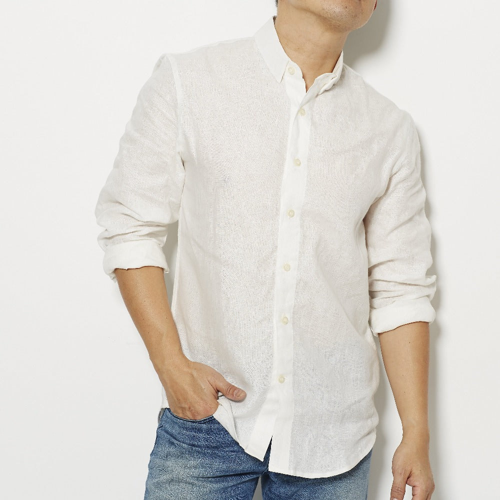 Footage 001 Linen Shirt - White