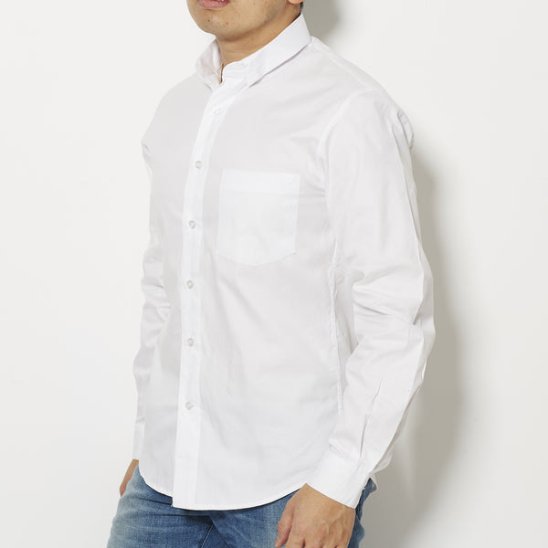 Footage 001 Signature Small Collar Shirt - White