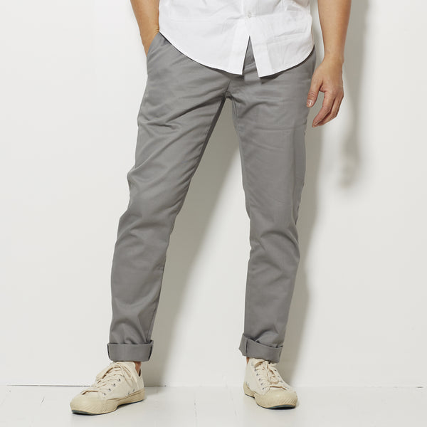 Footage Slim Chino Pants - Smoke Grey