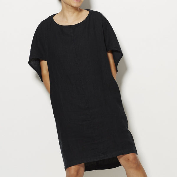 Black Crane Geometric Dress - Black