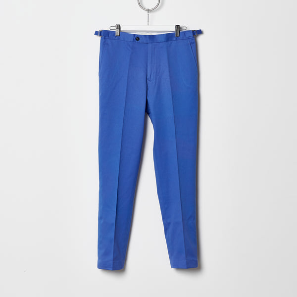 Footage 002 Pants - Mid Rise Trousers with Side Tab Adjusters in Cornflower