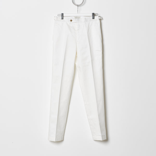 Footage 002 Pants - Mid Rise Trousers with Side Tab Adjusters in Snow