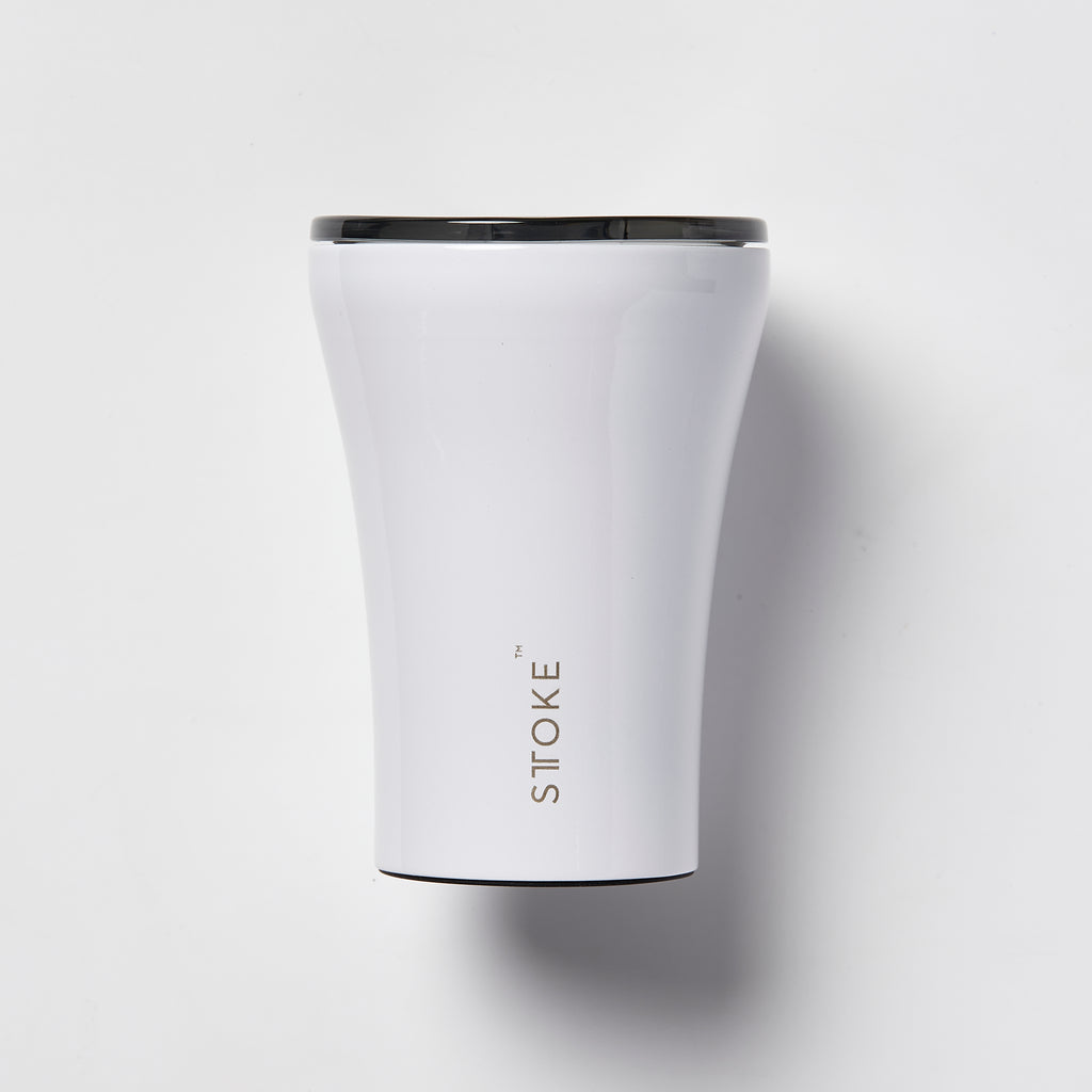 Sttoke Reusable Ceramic Cup - Polished White