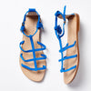 Capri Positano Sandals - Ischia in Electric Blue Suede