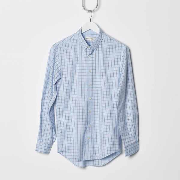 Footage 001 Shirt - Blue/Rust Check