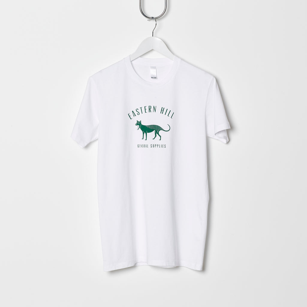 Eastern Hill General Supplies Logo Tee - White/British Racing Green