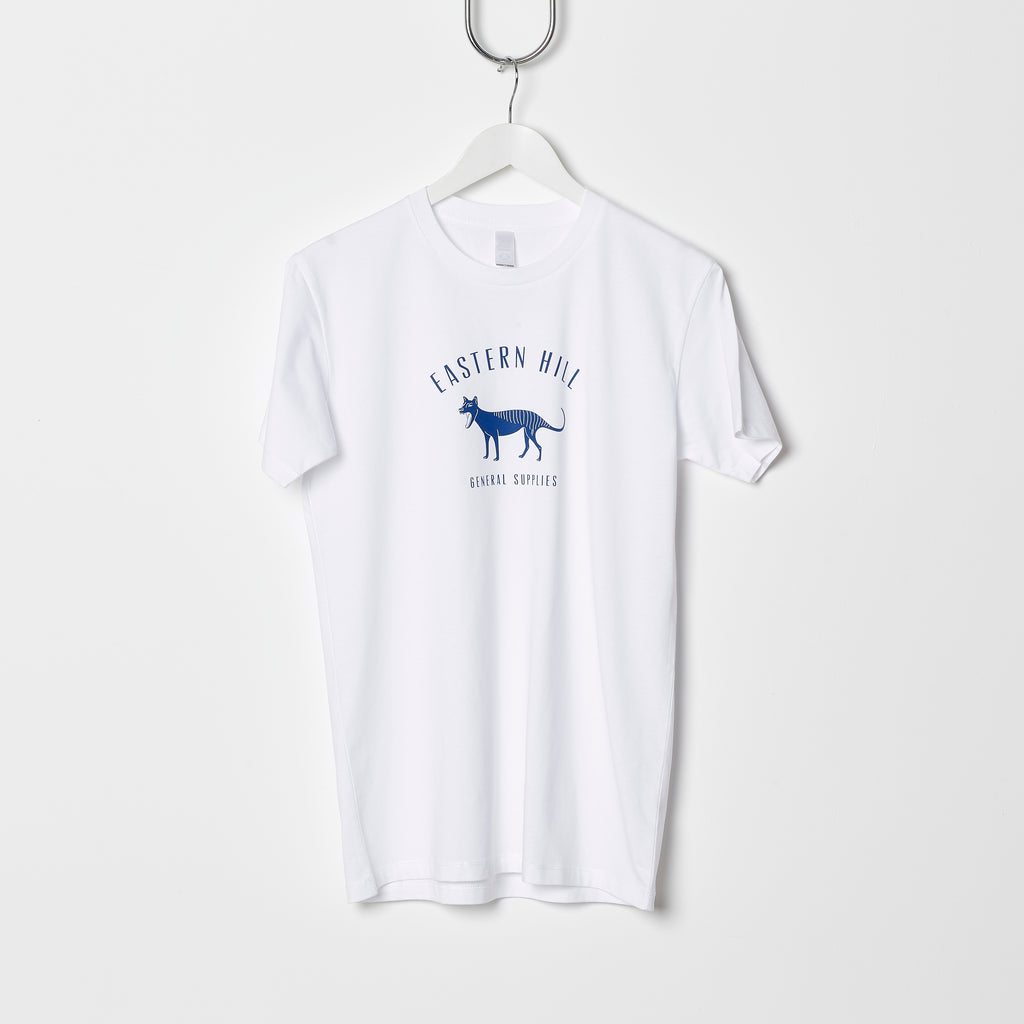 Eastern Hill General Supplies Logo Tee - White/Winchester Blue