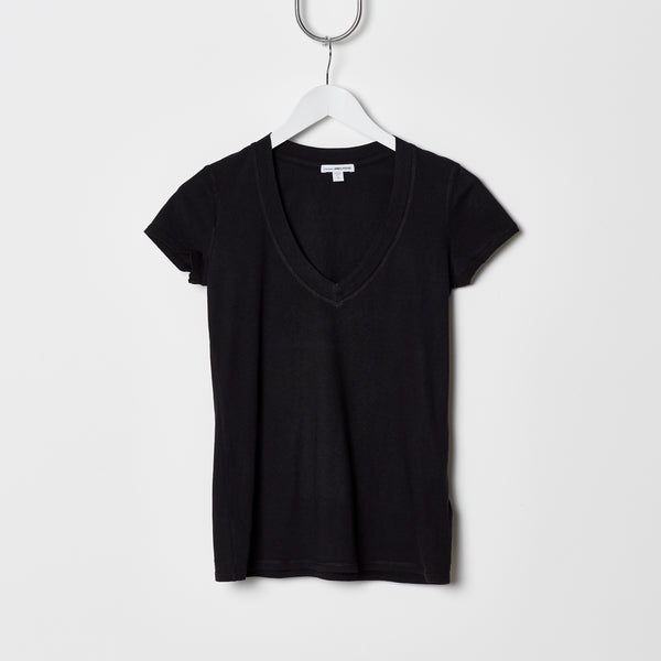 James Perse Relaxed V Neck Tee - Black