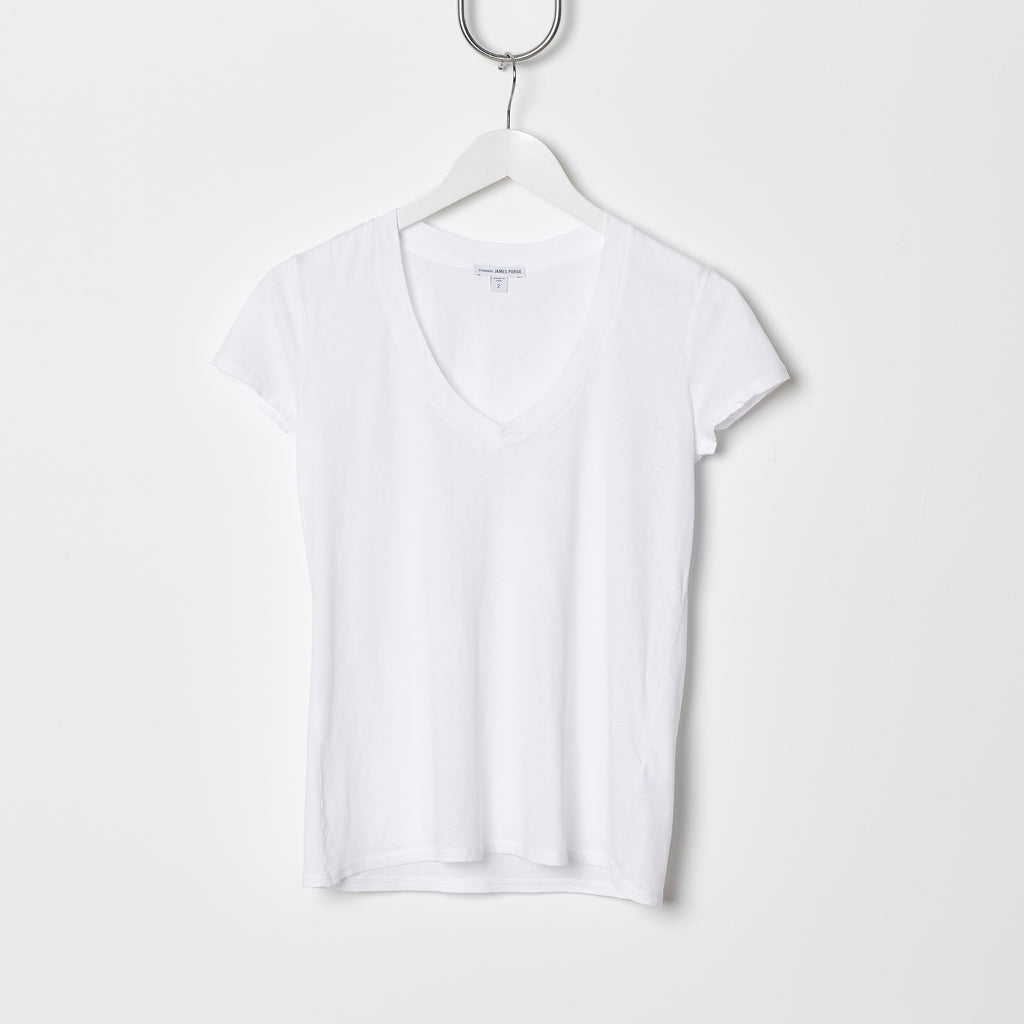 James Perse Relaxed V Neck - White
