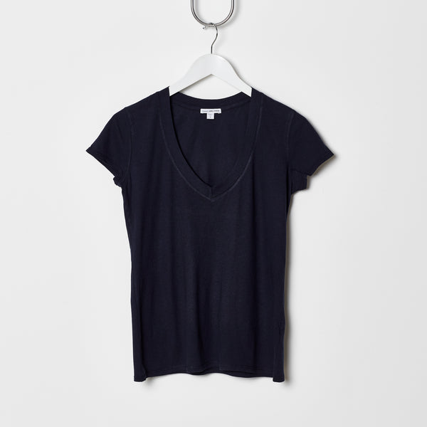 James Perse Relaxed V Neck - Navy