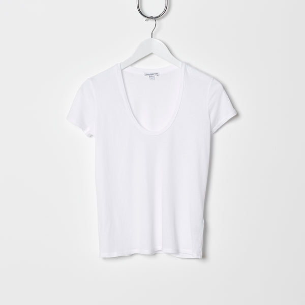James Perse Relaxed Casual Tee - White