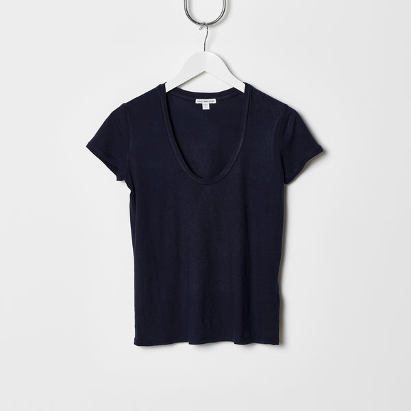 James Perse Relaxed Casual Tee - Navy