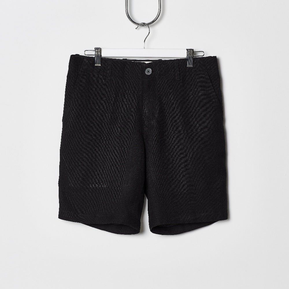 Footage Linen Shorts - Black