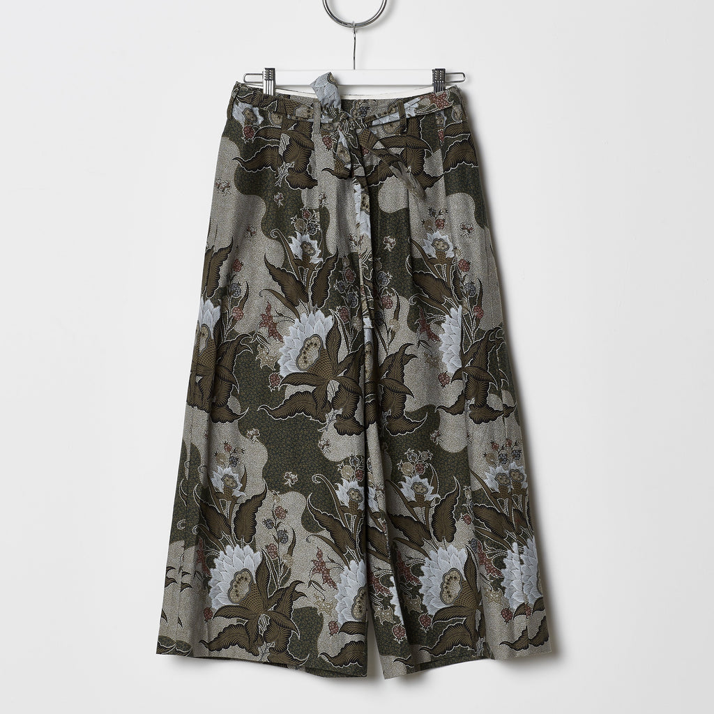 Footage Wide Leg Straits Pant - Green Lotus