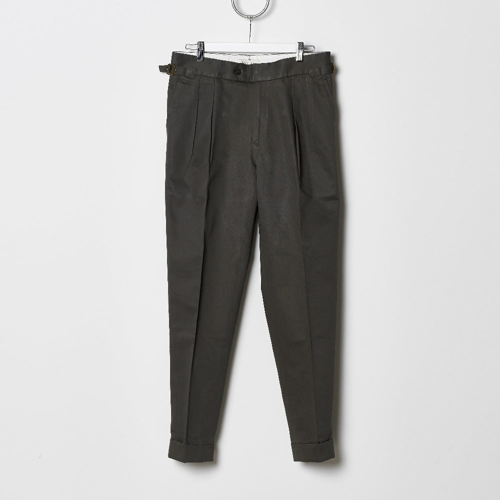 Footage High Waisted Pleated Pants - Fern Green
