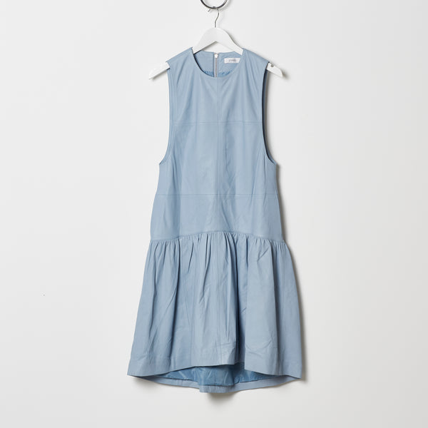 Stand Studio Leather Dress - Baby Blue