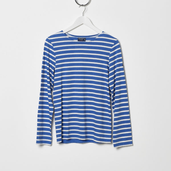 Saint James Minquiers Moderne Stripe Tee - Indigo/Cream