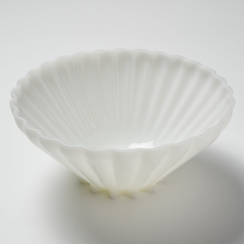 Vintage Milk Glass Salad Bowl