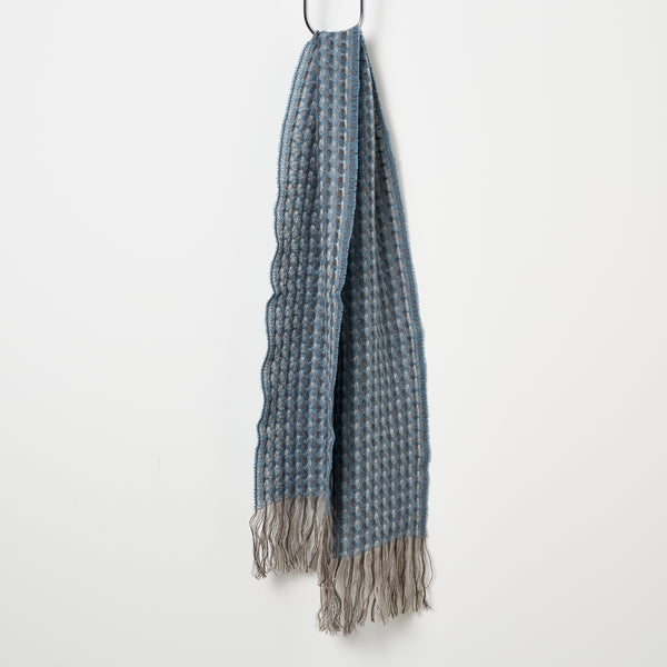 Stansborough Kauri Woven Scarf - Azzuro Blue