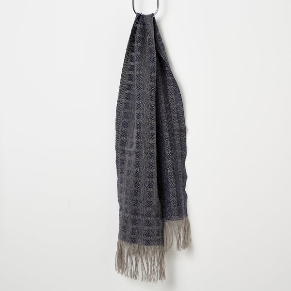 Stansborough Chevron Scarf - Navy