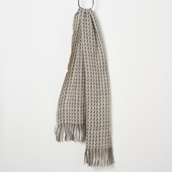 Stansborough Kauri Woven Scarf - Ecru/Grey/Charcoal